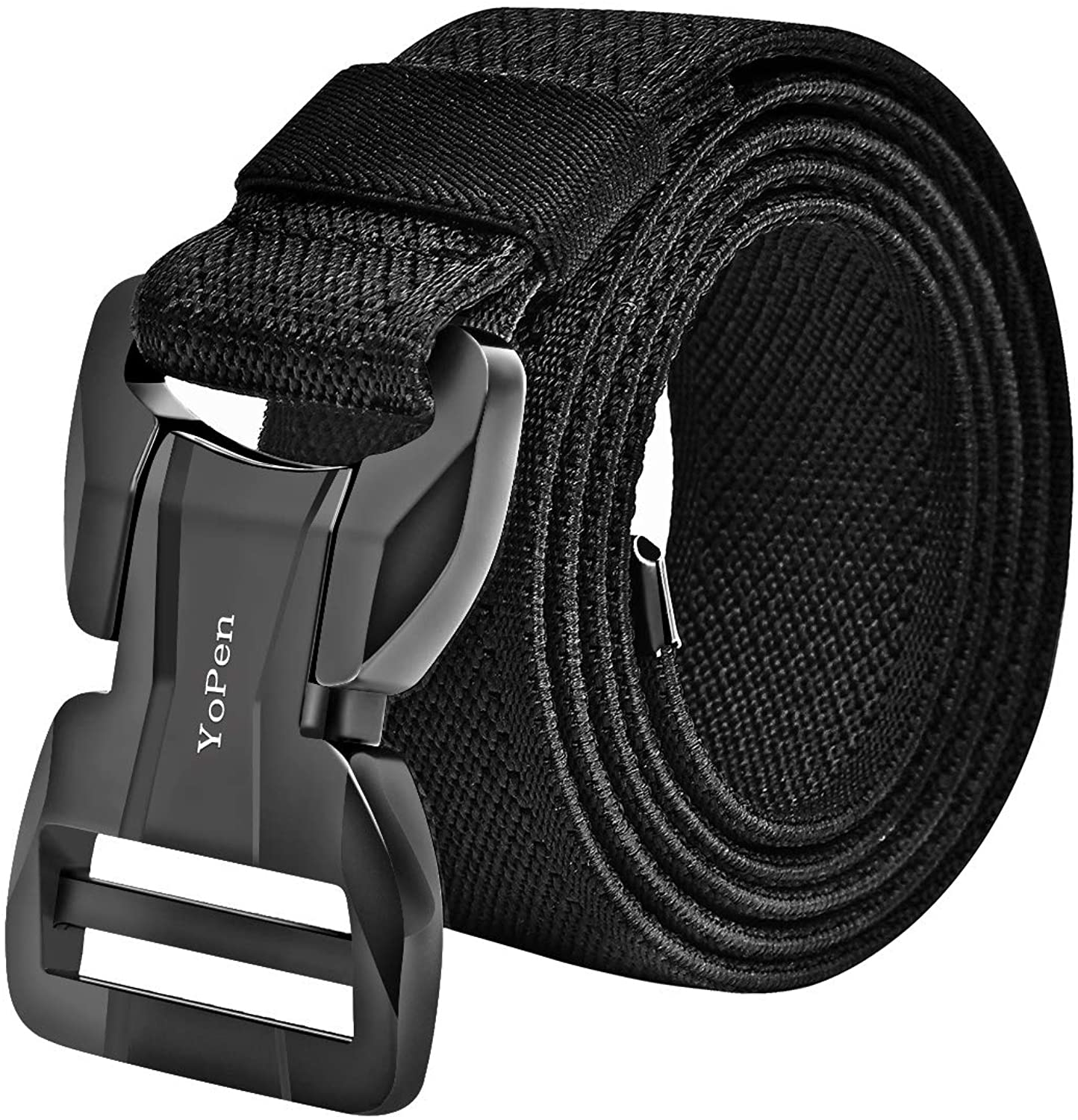 YoPen Tactical Belt for Men, Nylon Military outdoor Web Belt Canvas Breathable with Magnetic Heavy-Duty Quick-Release Buckle