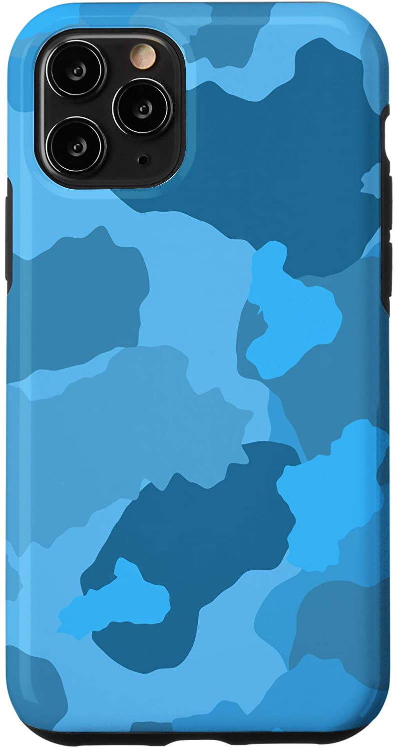 iPhone 11 Pro Blue Camo Camouflage Phone Cover Case