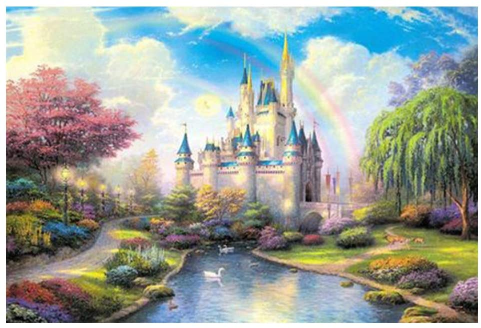 Adult Puzzle 1000 Pieces, Fairy Tale Castle, Family Creative Puzzle Adult Children Educational Puzzle Toy