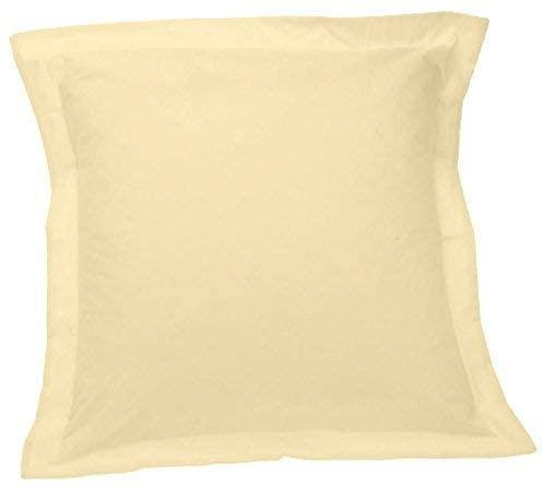 Rac's Linen { Solid } Ivory - 100% Egyptian Cotton Pillow Shams { Pack of 2-PCs } – (Standard 20 X 26) – Egyptian Cotton Fabric Maximum Softness 400 Thread Count Brand