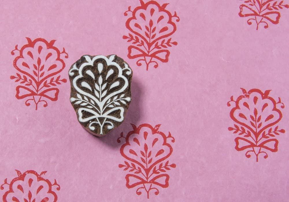Blockwallah Ethnic Indian Flower 040 Wooden Block Stamp