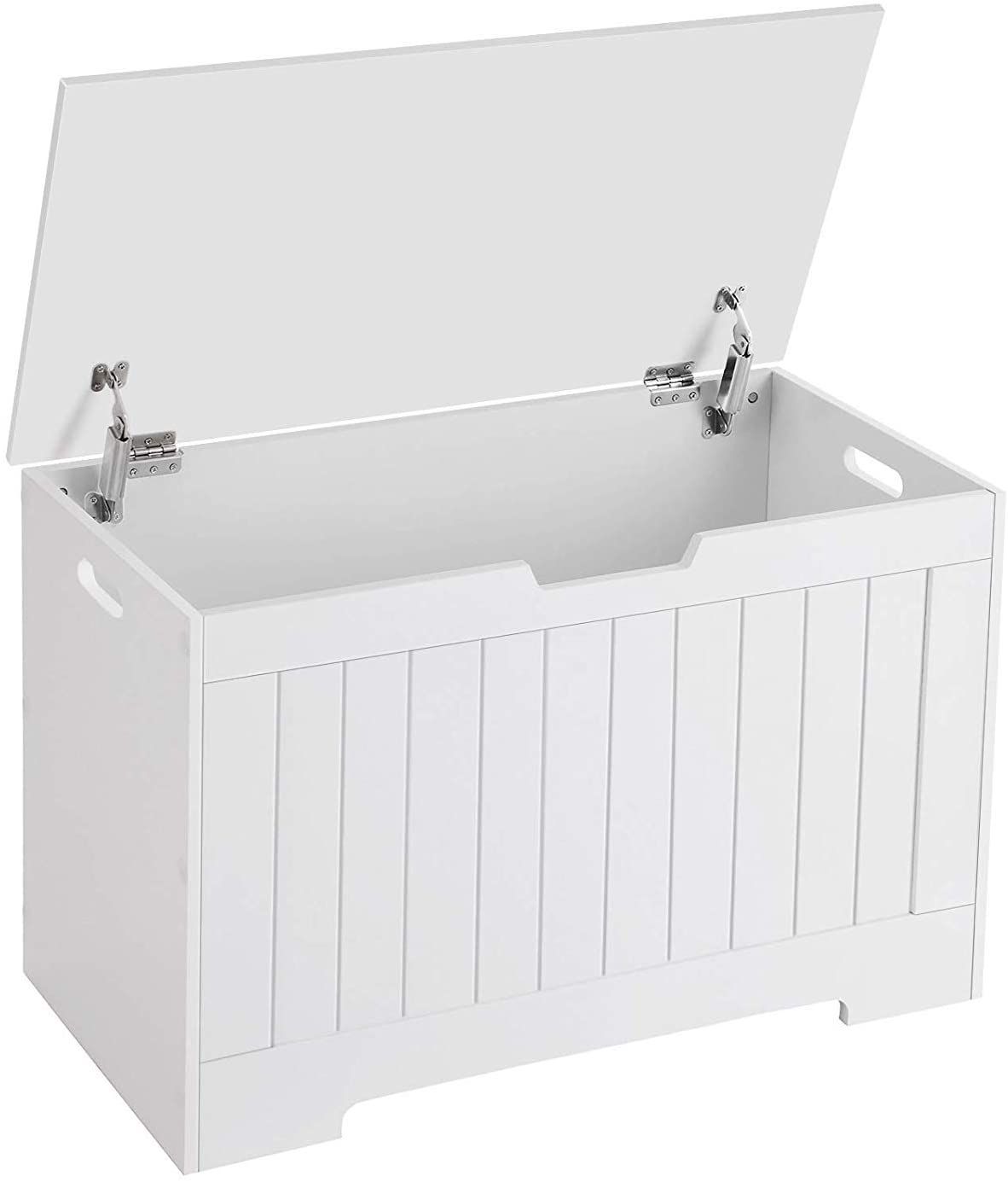 Knocbel Flip-Top Toy Box, Storage Organizer Kids Chest Storage Bench with Lid & 2 Safety Hinges, 29.9