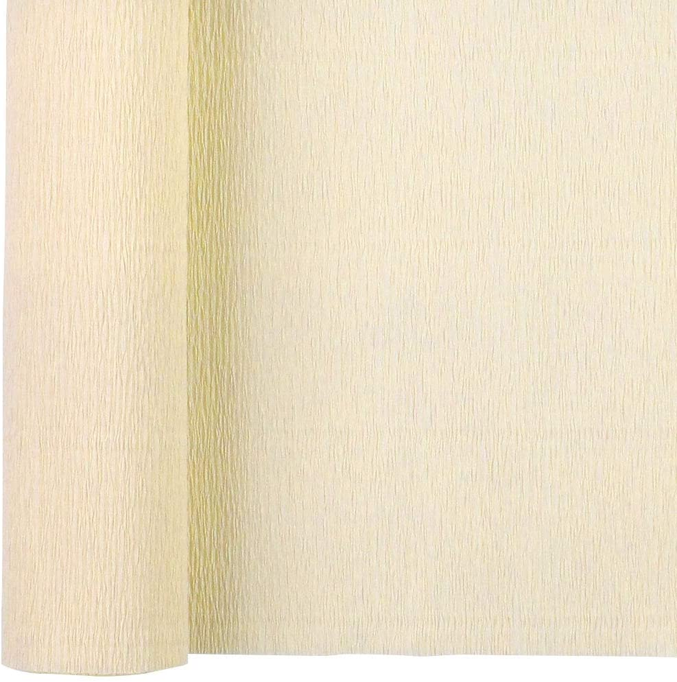 Just Artifacts 90g Premium Crepe Paper Roll, 20in Width, 8ft Length, Color: Ivory