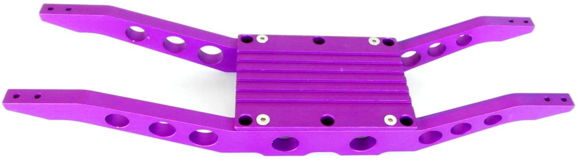 RC Raven E-Maxx 3906 Purple Anodized Aluminum Bottom Braces with Free Center Skid Plate
