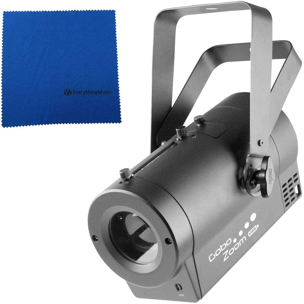 Chauvet DJ Gobo Zoom USB LED Gobo Projector Lighting Effects Fixture with Microfiber and 1 Year EverythingMusic Extended Warranty