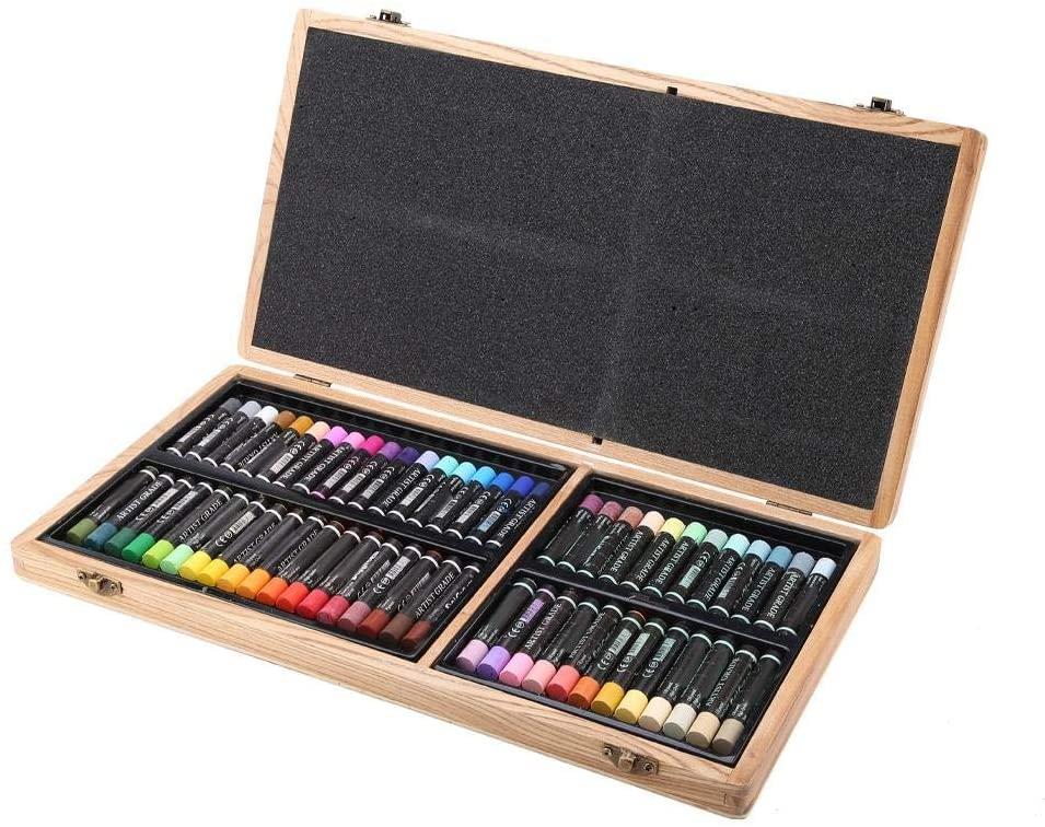 Boquite Oil Pastel Oil Painting Stick, 60 Colors Heavy Fine Art Painting Crayon Set