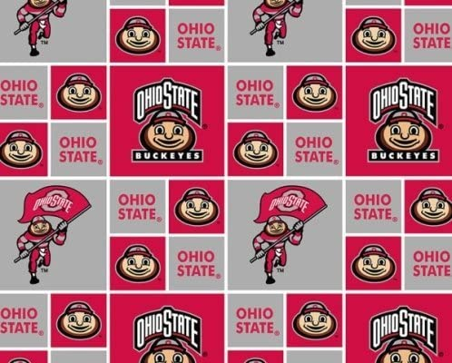 New Ohio State University by Sykel - 100% Cotton 44 Wide by The Yard