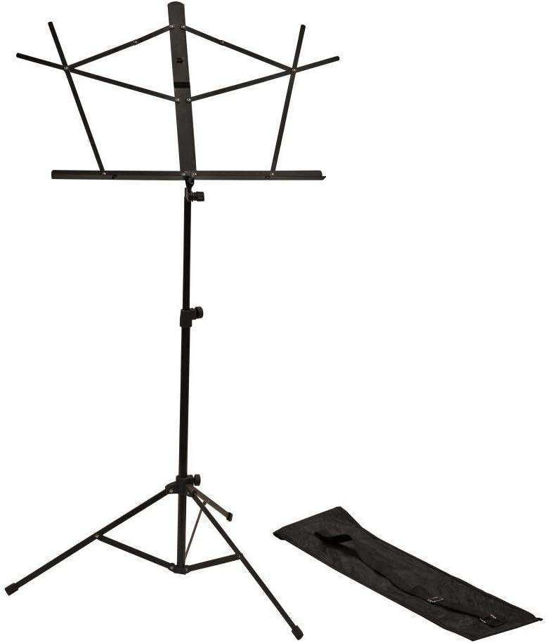Rok-It Adjustable Speaker Stand Set with Carry Bag and Dual Diameter tube for Both 35mm and 38mm Speaker Mounts; (RI-SPKRSTDSET)