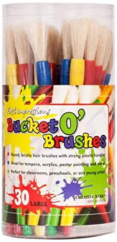 First Impressions Bucket o' Brushes for Kids - 30 Count Large
