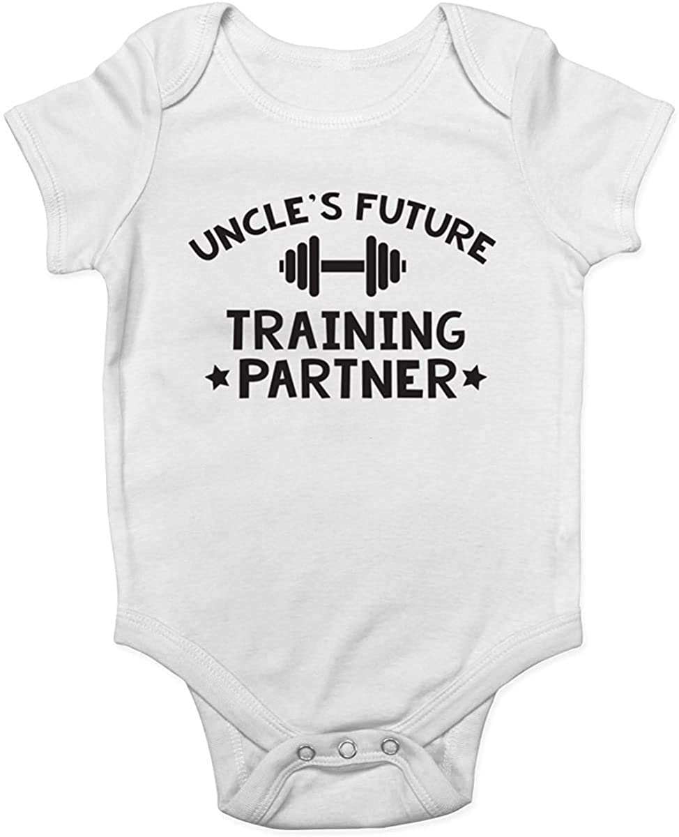 GKrepps Uncle's Future Training Partner Bodysuit Girl boy Infant Toddler Baby Clothes Creeper