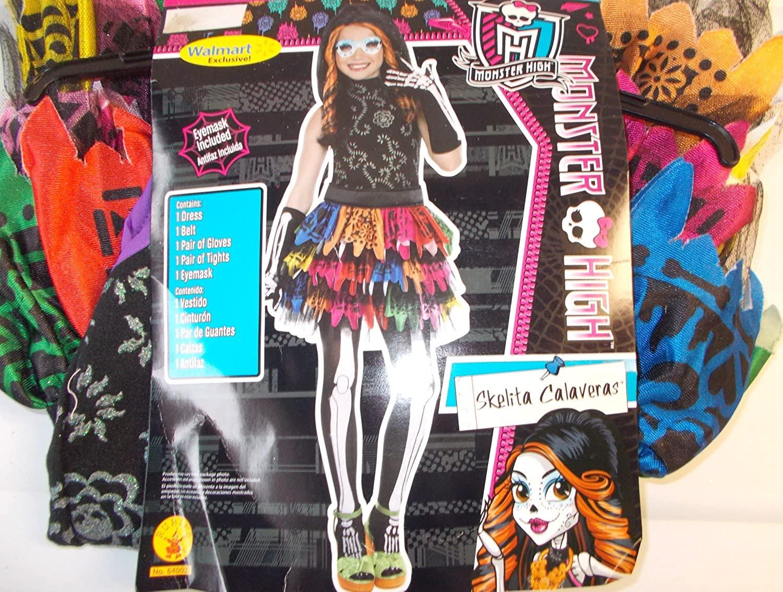 Monster High Skelita Calaveras Child Costume Mask 10-12 NIP