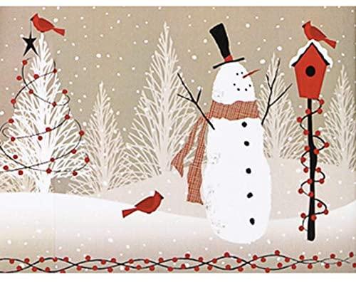 Woodland Snowman Kraft 24