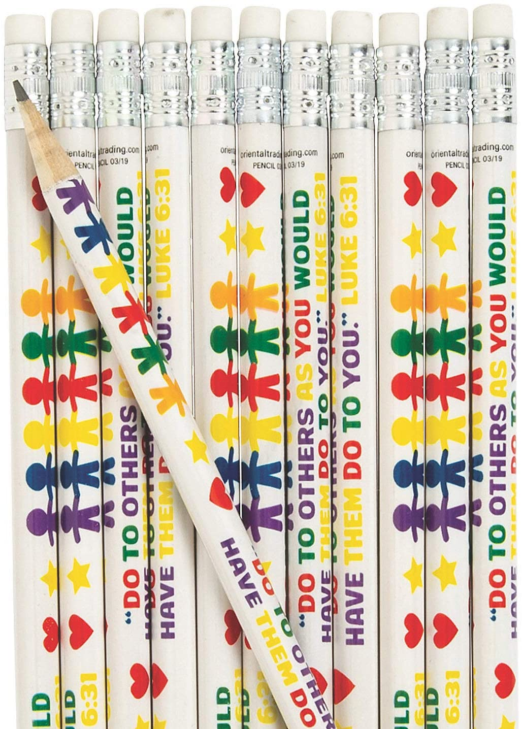 Fun Express - Be Kind Religious Pencils - Stationery - Pencils - Pencils - Printed - 24 Pieces