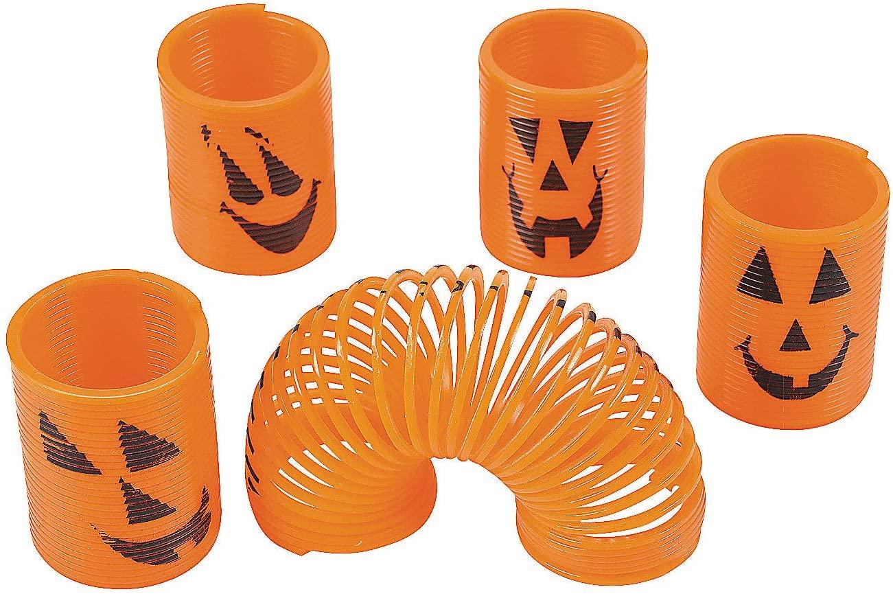 Fun Express Mini Pumpkin Magic Springs - Toys - 12 Pieces