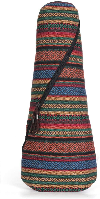Glenmi Bohemian Ukulele Case Bag for Both Soprano Concert Ukulele 21'' 23'' 24'',10mm Sponge Padded (Soprano/Concert)