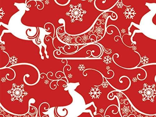 Holiday Modern - Sleigh Ride 24x100 Gift Wrap Cutter Box (1 roll) - Wraps -M3160CB