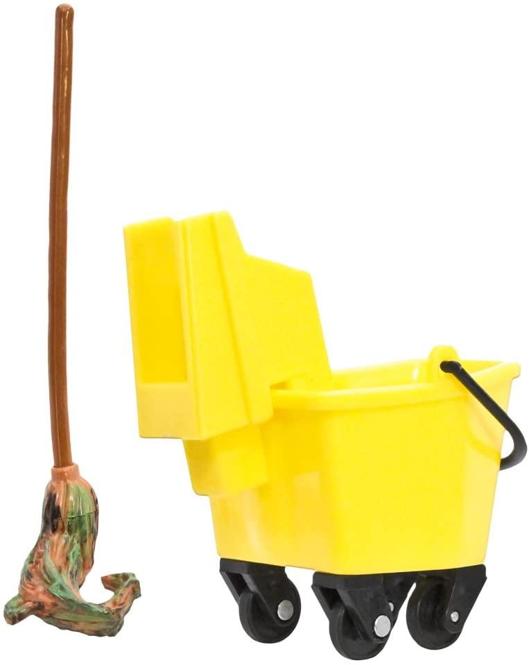 Plastic Mop & Bucket for WWE Wrestling Action Figures