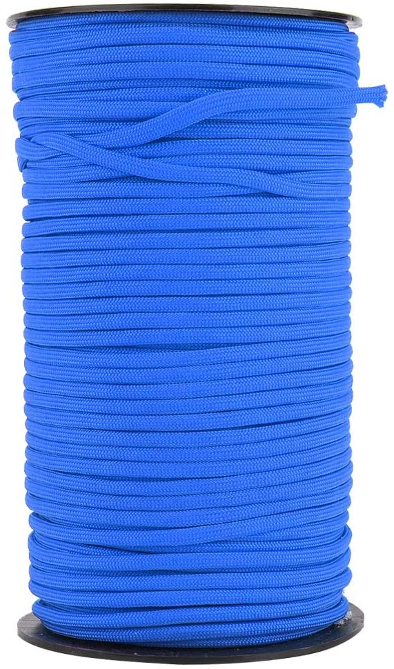 MAGT Climbing Rope, 100m 4mm Tent Cord Outdoor 7 Core Rock Climbing Rope Polyester Polypropylene Tent Rope Outdoor Equipment for Hiking