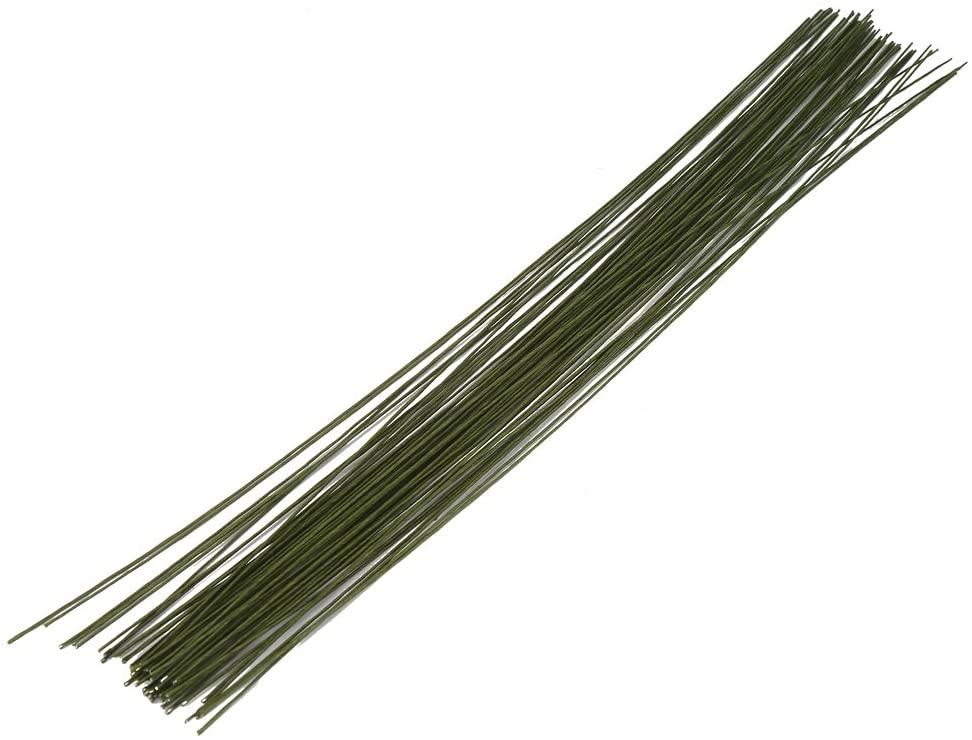 DECORA 26 Gauge Dark Green Floral Wire for Flower Wrap16 inch,50/Package