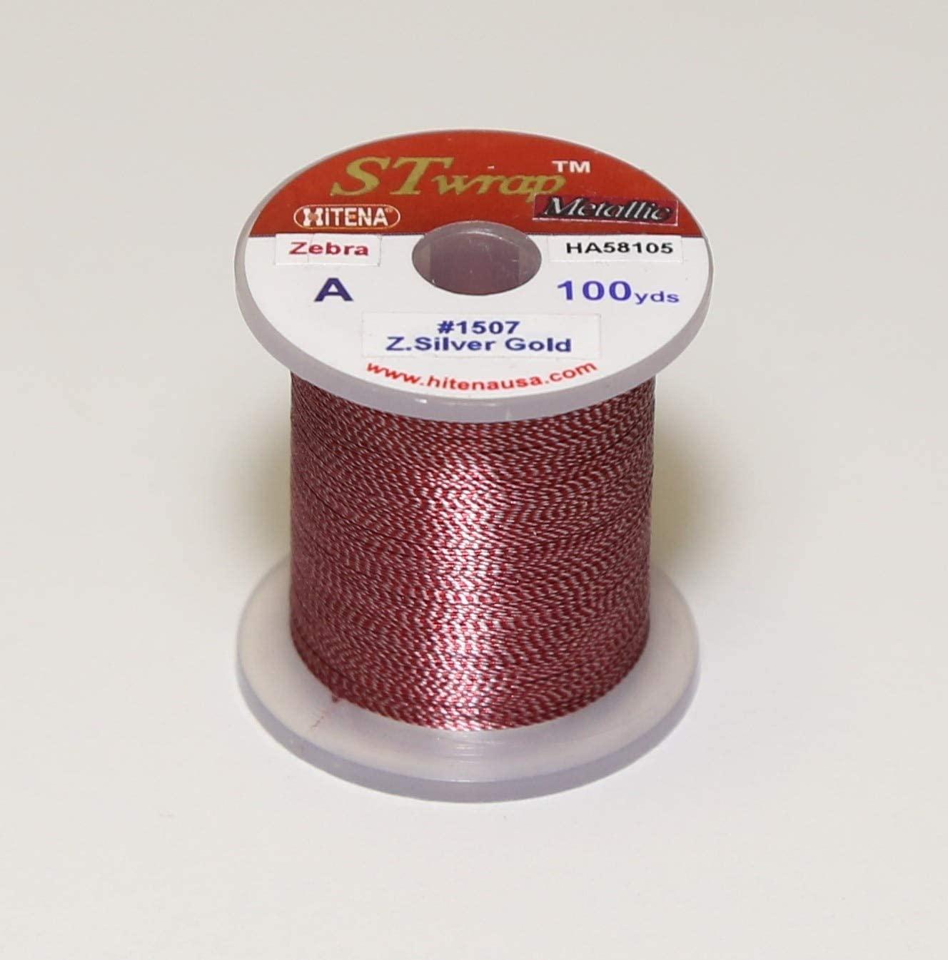 Hitena Rod Wrapping Thread - Metallic Zebra (Jasper) Winding Thread. 35 Colors Available