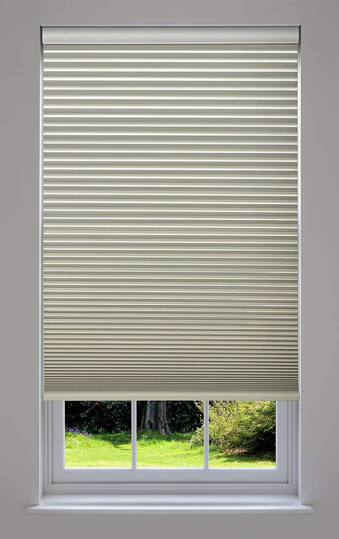 Decor Avenue Custom Cordless 34 W x 30 to 36 H Seashell Blackout Cellular Shade Inside Mount