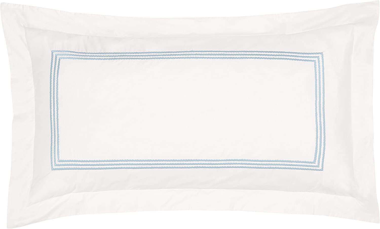 Downright Windsor Pillow Sham – 100% Cotton Sateen – 400 Thread Count – Standard 20