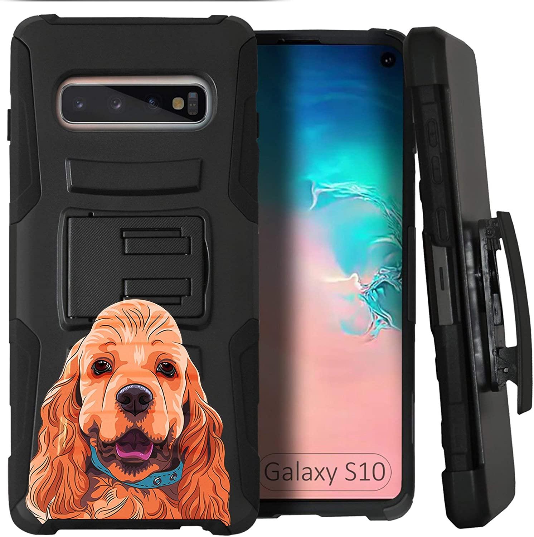 CasesOnDeck Dog Design Case Compatible with Samsung Galaxy S10 (6.1
