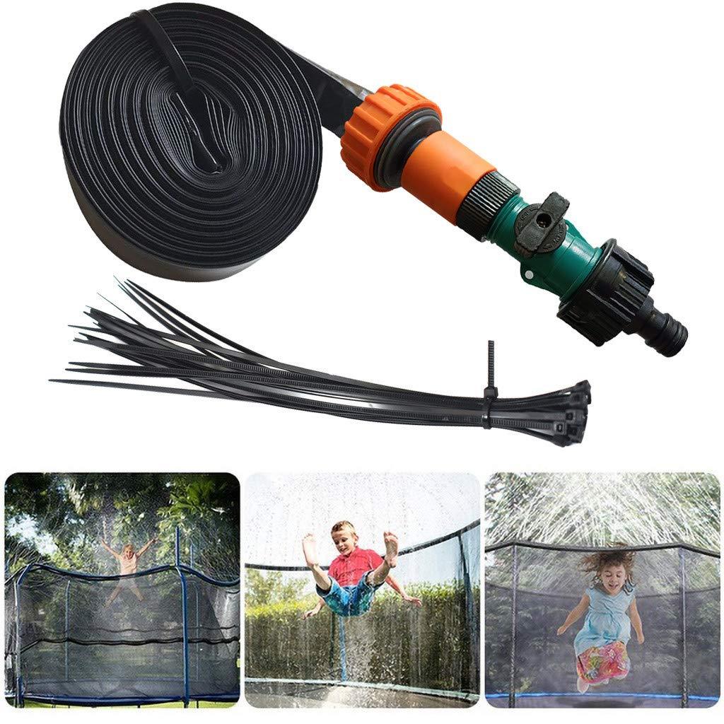 Trampoline Sprinkler for Kids Outdoor Trampoline Sprinkler Fun Summer Outdoor Water Games Yard Toys Sprinklers Backyard Water Park for Boys Girls 26FT/32.8FT/39.4FT/49.2FT (8M(26FT))