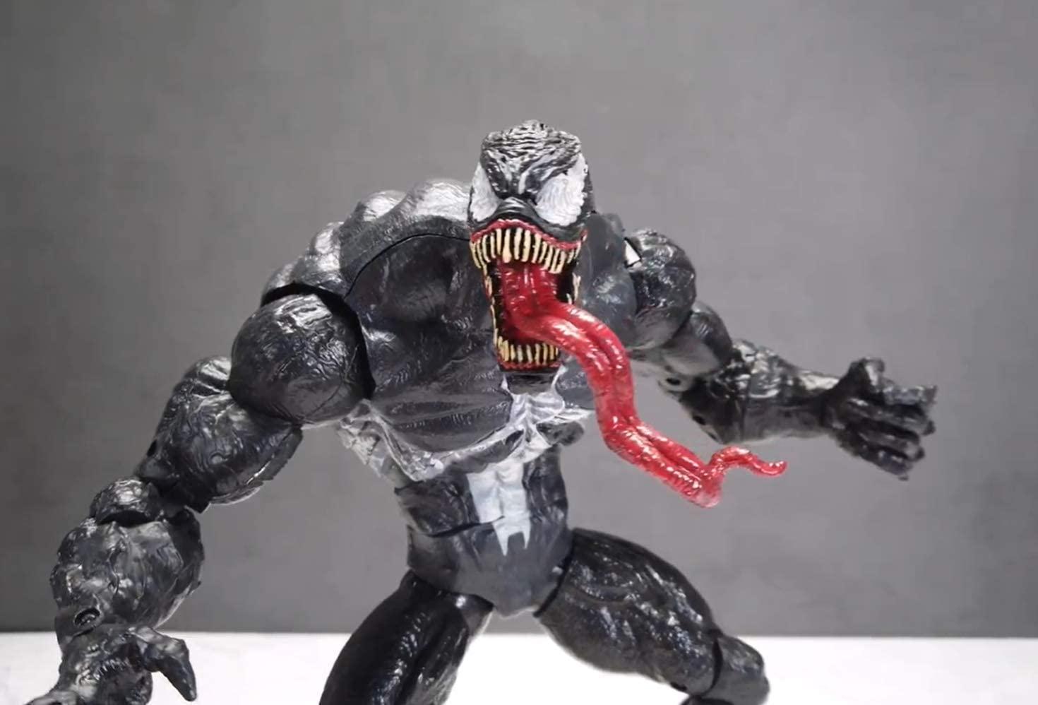 Lizars Mavel Legends Series Venom 12-inch Collectible Action Figure Venom Toy, Premium Design Joints Movable Action Figures Mavel Toys (12 inch Bag) (12 inch Bag)