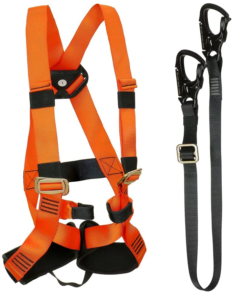 Fusion Climb Tactical Edition Kids Commercial Zip Line Kit Harness/Lanyard Bundle FTK-K-HL-03