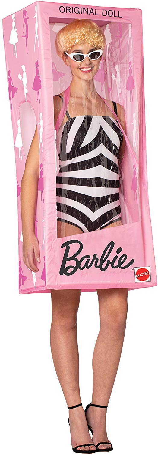 Barbie Doll Vintage Swimsuit in Box Halloween Costume, Womens, Size 6-8