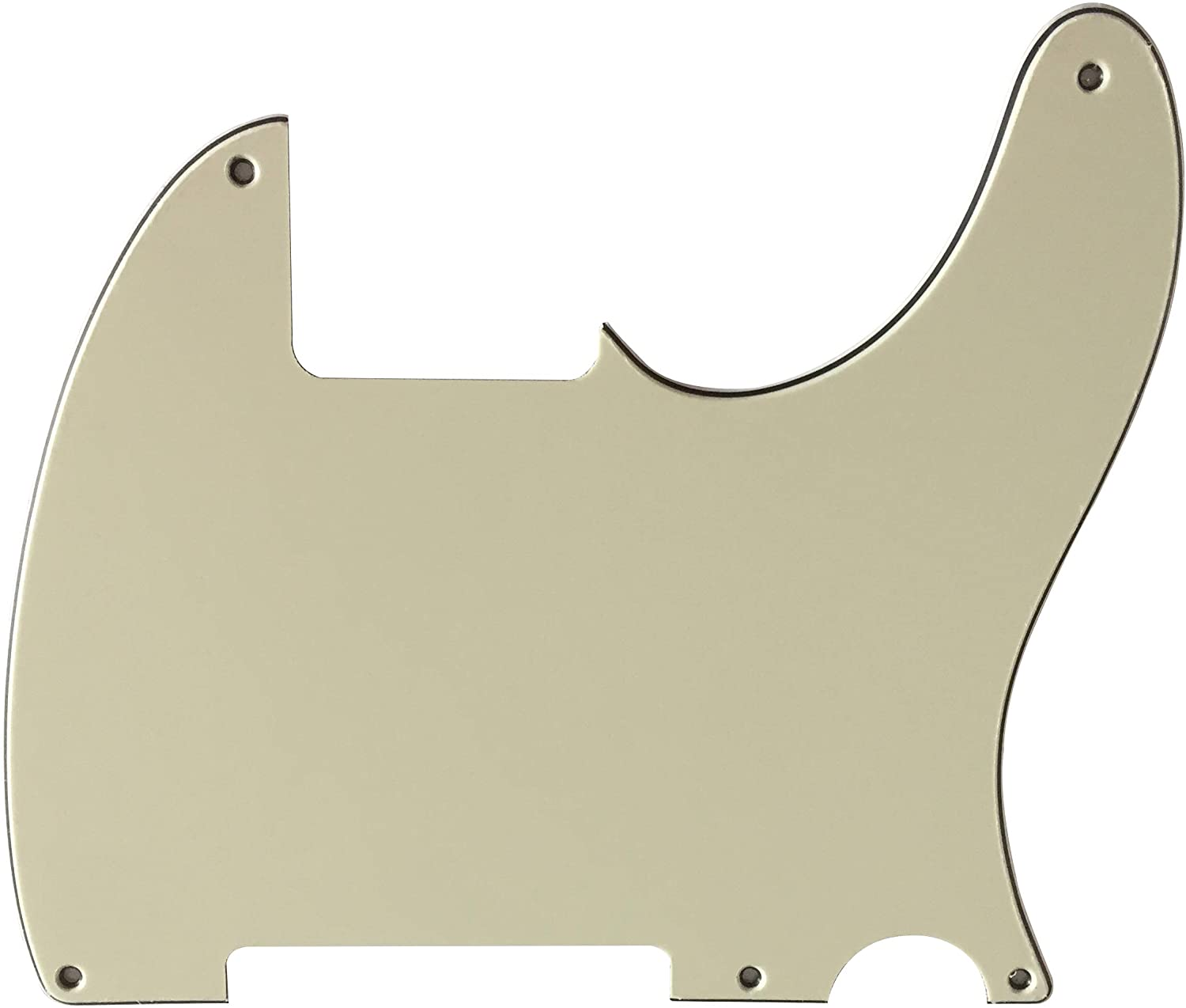 Custom For Fender Esquire Vintage Telecaster 5 Hole Blank Style Guitar Pickguard Scratch Plate (3 Ply Mint Green)