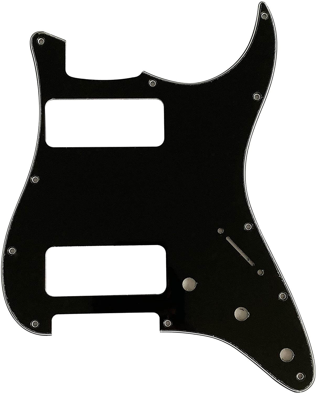 Custom For Fender Stratocaster Strat P90 2 Pickup Electric Guitar Pickguard (3 Ply Black)