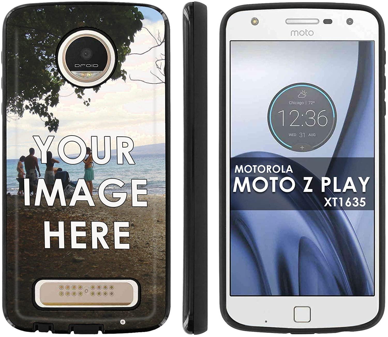 Slim Anti-Shock Designer Phone Case Compatible with Motorola Verizon Moto [Z Play] Droid XT1635 Custom Tool Your Memory Photo HERE