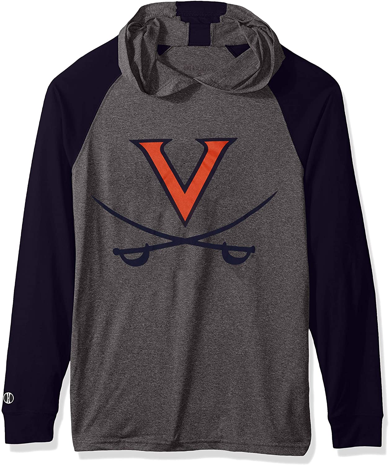 Ouray Sportswear NCAA Virginia Cavaliers Men's Echo Hoodie, Graphite/Navy, Medium