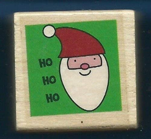 Wooden Rubberized Stamps for Card Making HO HO HO Santa Claus Holiday Gift Tag Words New Craft Rubber Stamp
