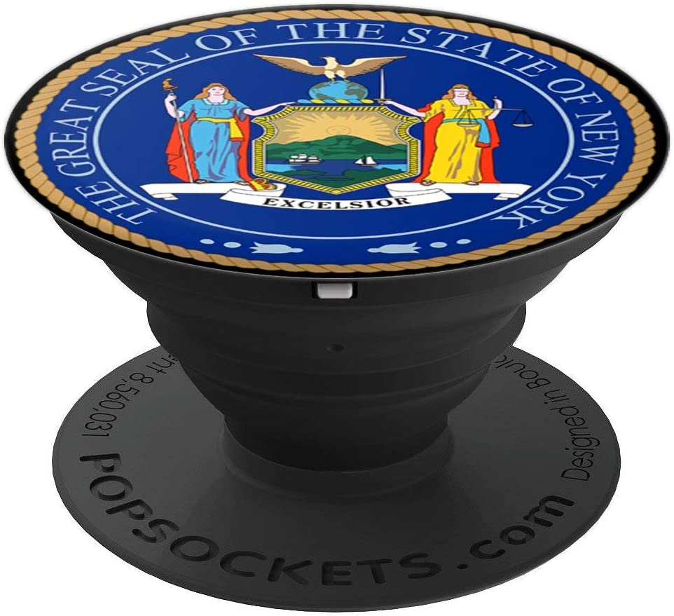 Coat Of Arms New York Pop Mount Socket Seal Emblem PopSockets Grip and Stand for Phones and Tablets