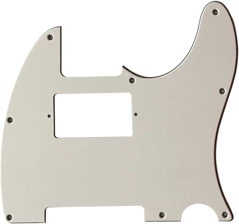 For Fender 8-Hole Tele Humbucker Guitar Pickguard Scratch Plate (3 Ply White)