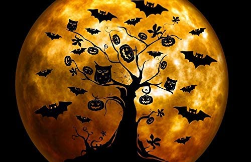 GKrepps Jigsaw Puzzle 300 Pieces-Halloween Owl Orange Jigsaw Puzzle for Adults Teens Kids Puzzle Game Decompression Toy Gift