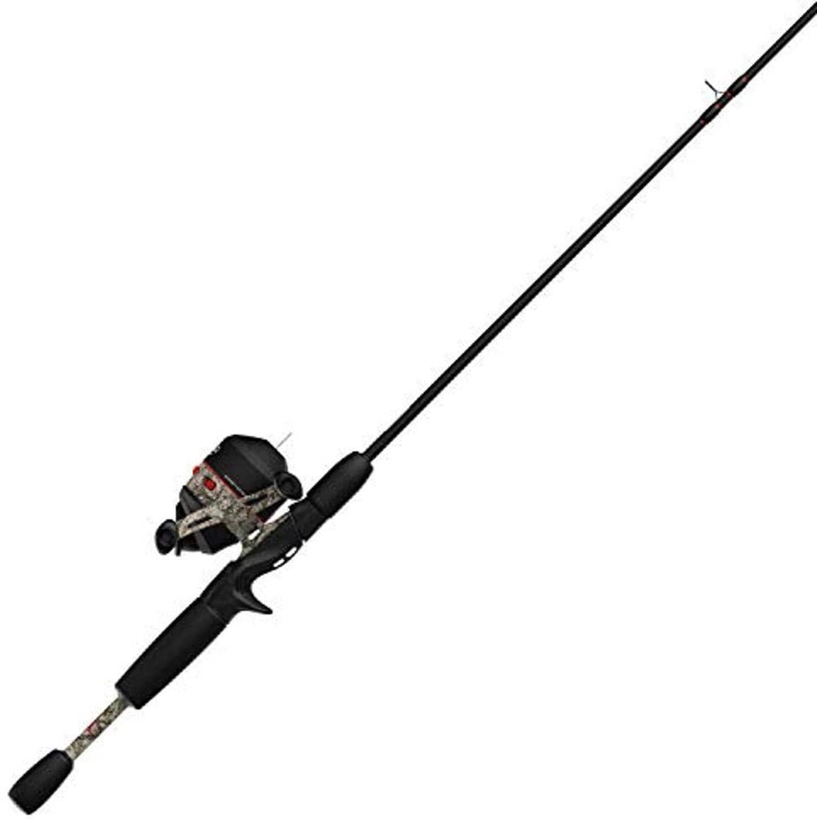 Zebco 33 Approach Spincast Reel and 2-Piece Fishing Rod Combo, 6-Foot Fiberglass Rod with Comfortable Split-Grip EVA Handle, Quickset Anti-Reverse Fishing Reel with Bite Alert, Camo/Pink