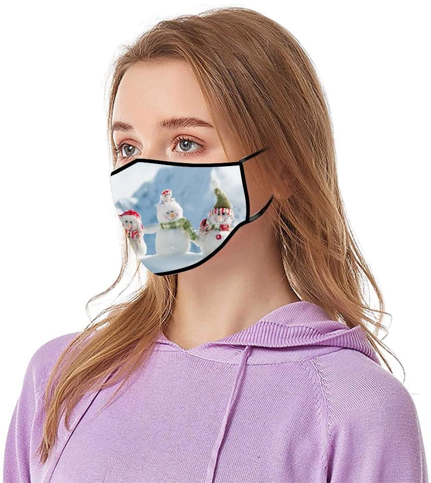 AIHOU Face Masks Reusable And Washable Cloth Face Mask Unisex Breathable Comfortable Cotton Fabric Mouth Cover Masks Christmas Festival Party