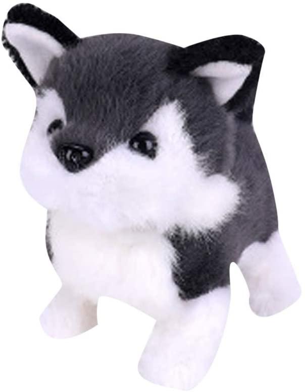 TOTAMALA Realistic Teddy Dog Lucky, Handmade Imulation Figure Toy Dog, Soft & Huggable Plush Dog, Cuddly Stuffed Dog, Electric Plush Toy - Smart Robot Dog for Kids