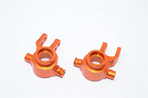 GPM Traxxas Slash 4X4 / Stampede 4X4 VXL / NOS Deegan 38 / Rustler 4X4 VXL / Hoss 4X4 Upgrade Parts Aluminum Front Knuckle Arm - 1Pr Set Orange