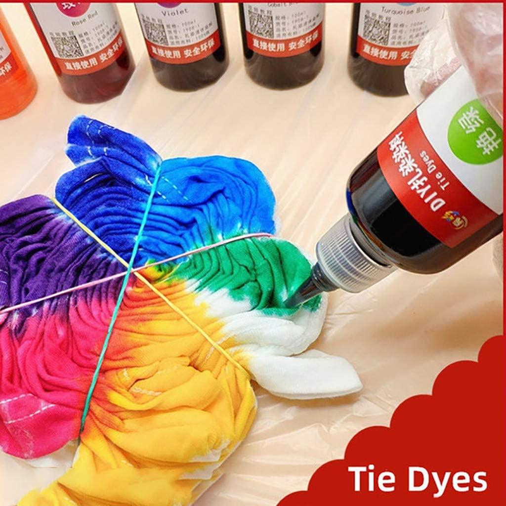 5 Bottles Muti-Color Dyes Kit Permanent Paint for DIY Arts Fabric 520ml (C)