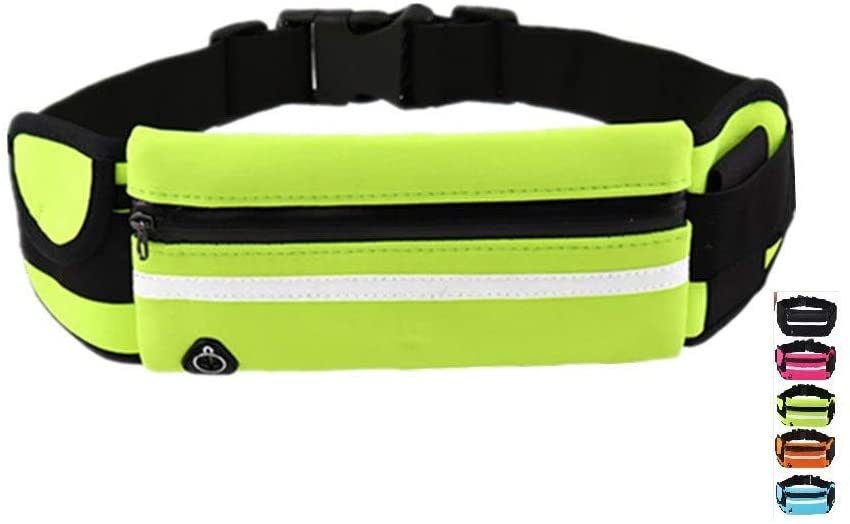 Slim Running Belt,Ultra Light Fitness Workout Exercise Waist Bag Pack for iPhone Samsung Android Phones, Running Cycling Gym Marathon for Men and Women