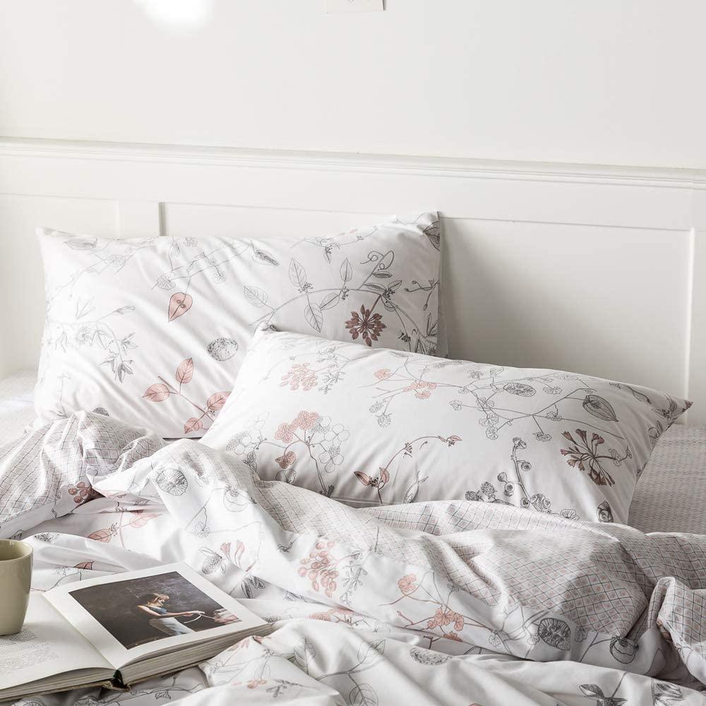 EAVD Floral Pillow Shams Set of 2 King Size 20