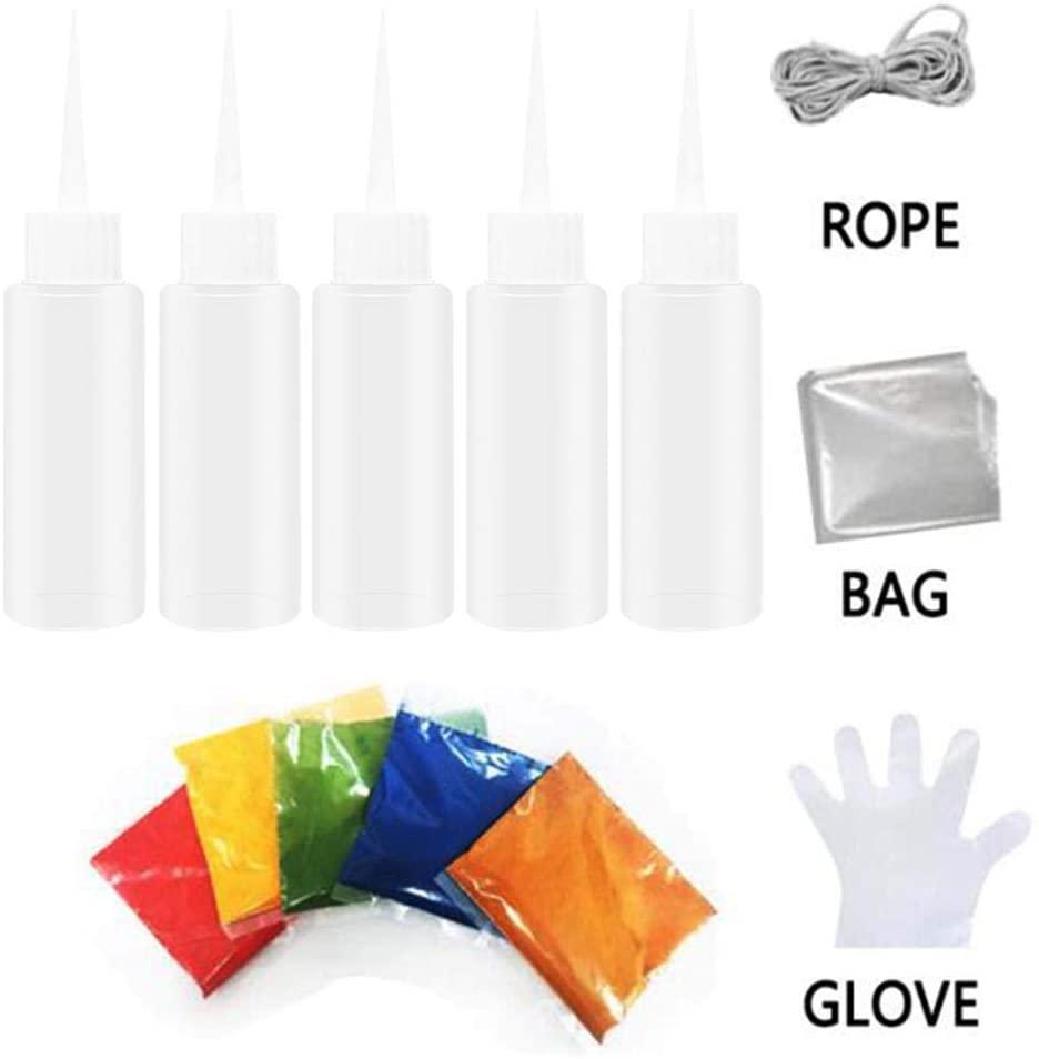 Tie Dye DIY Kit, 5 Colors Tie Dye, Shirt Fabric Dye, Design Safe Dyes for Clothes Shirt Dress, Homemade DIY Patterns Party Fun Activity