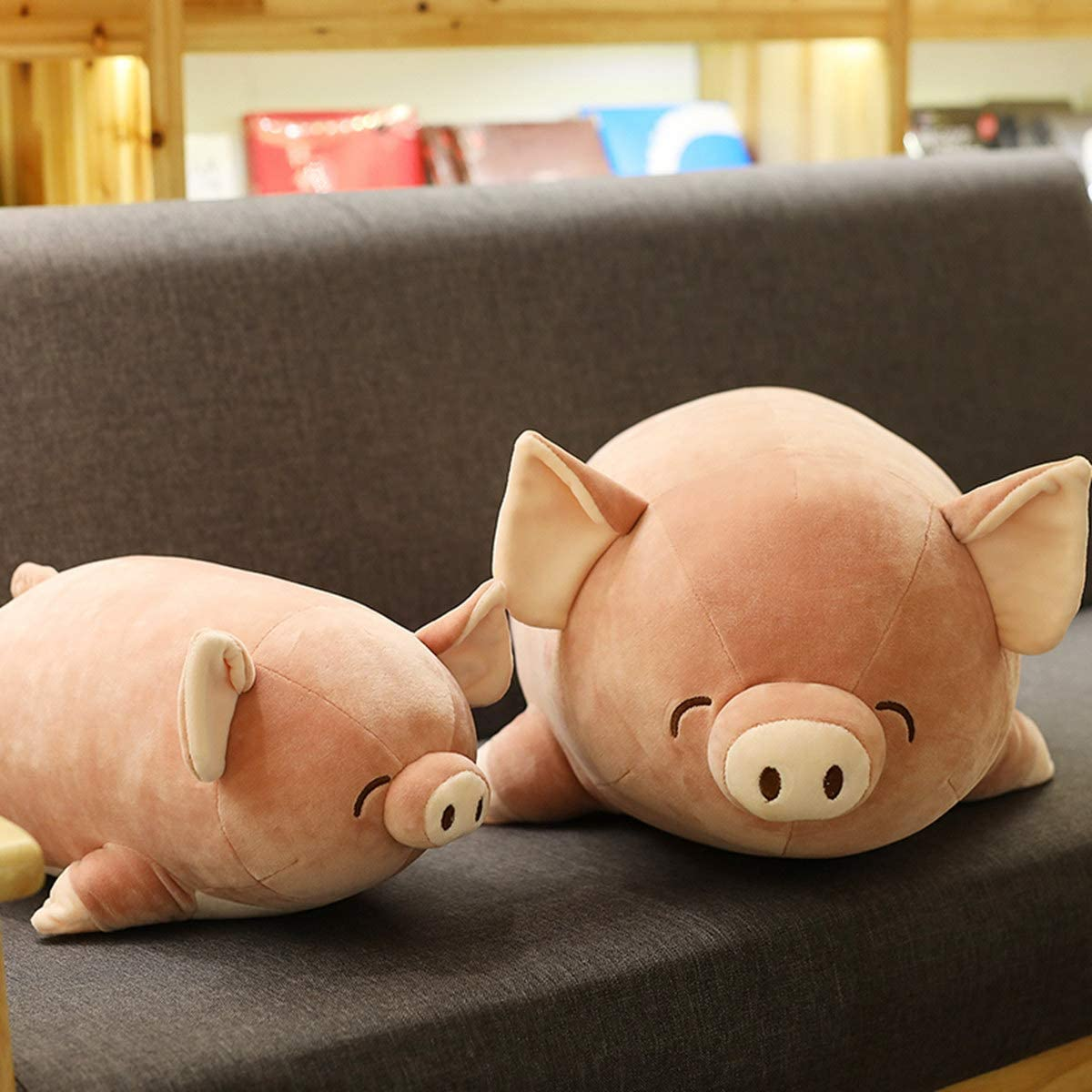 Soft Hug Plush Pillow, ONXE Cute Pig Pillow Round Chubby Animal Pillow Stuffed Cotton Animal Plush Toy, 16'' Doll Toy for Kids Girlfriend (Pink)