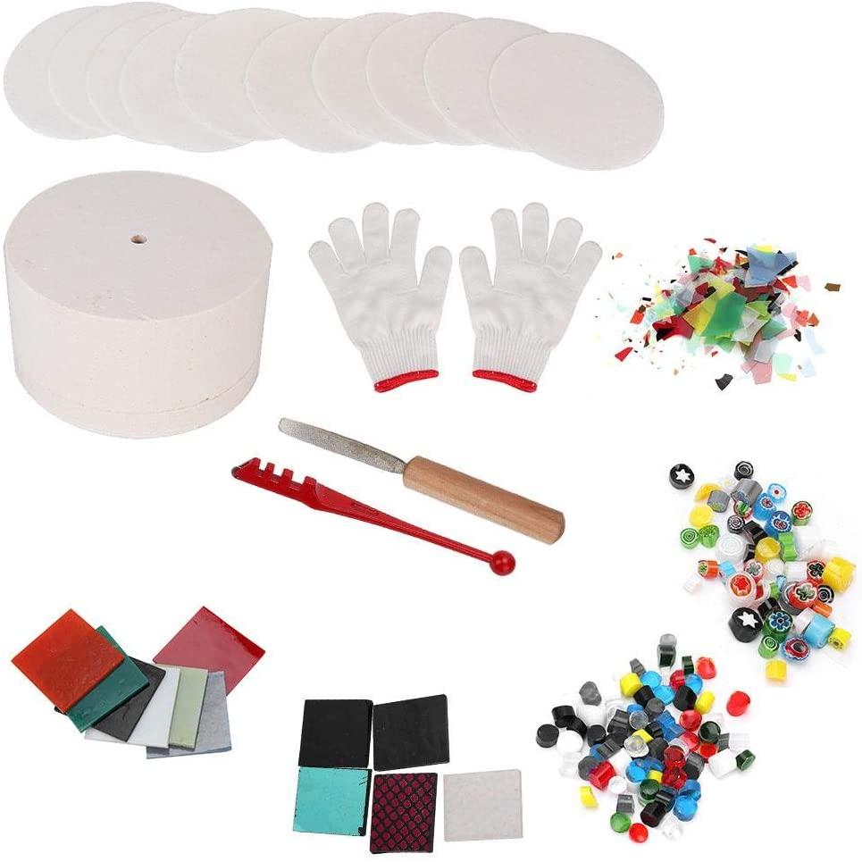 Microwave Kiln Set, 10 pcs/Set Arts Crafts Fusing Glass Kilns Microwave Kiln Sewing DIY Jewelry Tools Kit for Ceramic Accessories(large)