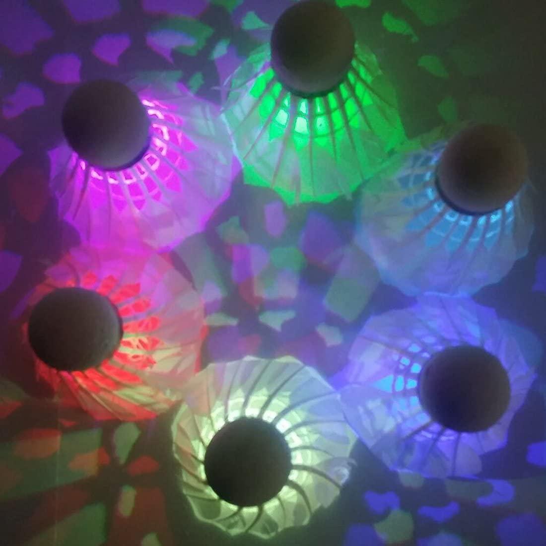 Bringsine LED Badminton Shuttlecock Dark Night Glow Birdies Lighting for Indoor Sports Activities